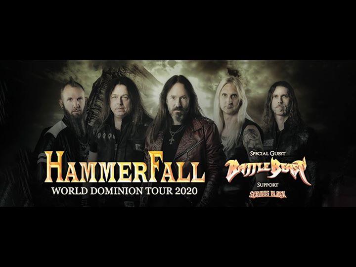 Hammerfall / Battle Beast / Serious Black - Antwerpen