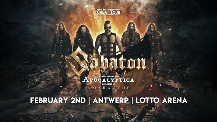 Sabaton - Antwerp, Belgium - 2 Feb 2020, The Great Tour