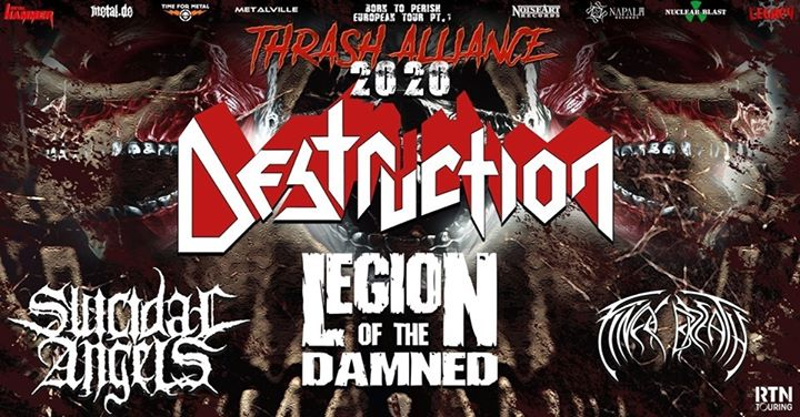 Thrash Alliance 2020 w/ Destruction & more - Trax, Roeselare
